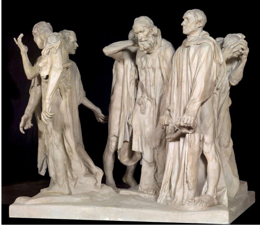 Les «Bourgeois  de Calais» d'Auguste Rodin